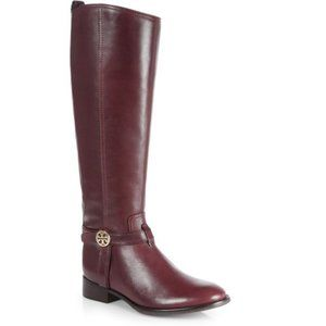 Tory Burch Bristol Leather Knee-High Riding Boots